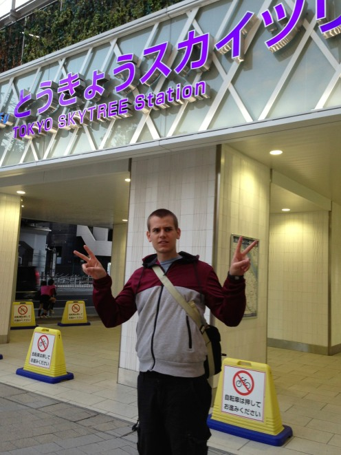 So hard not to throw up the peace sign in Japan