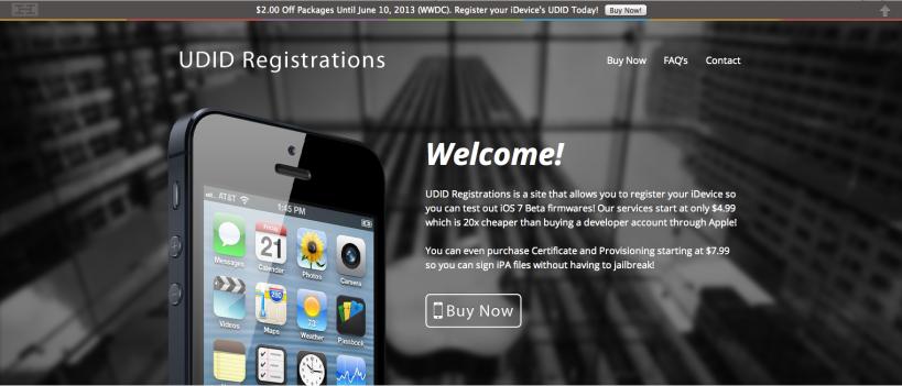 UDID Registration