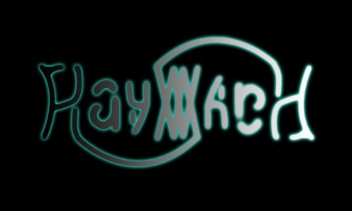 Hayward Ambigram Logo Flat Lines Gradient
